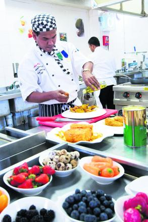 Chef Arzoo Miah in a picture taken when he was competing in a cookery competition
