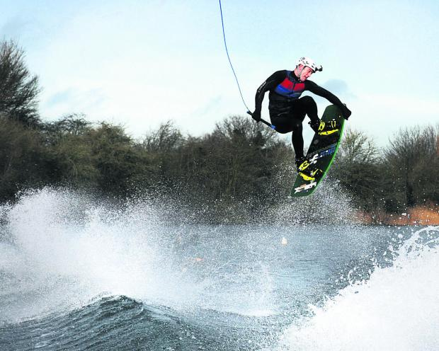 Bicester Advertiser: Richard Phillips in action at Oxford Wakeboard and Ski Club in Berinsfield,