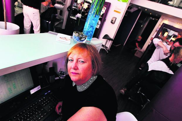 Bicester Advertiser: Manager Shirley Popham at Popham hair salon in North Parade, Oxford, which suffered a cyber attack last May. Picture: OX59660 Ed Nix