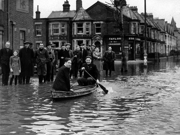 The recent floods in Abingdon Road, Oxford