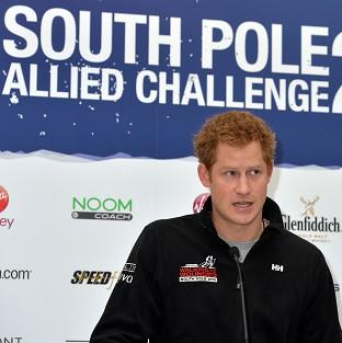 Bicester Advertiser: Prince Harry speaks at the Walking With The Wounded South Pole Allied Challenge welcome home press conference