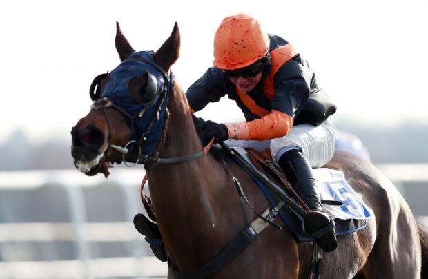 Fitandproperjob and Charlie Deutsch on their way to victory at Leicester