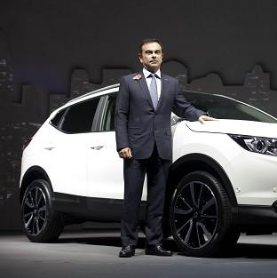Bicester Advertiser: Carlos Ghosn, CEO of Nissan, at the launch of Nissan's new Qashqai model