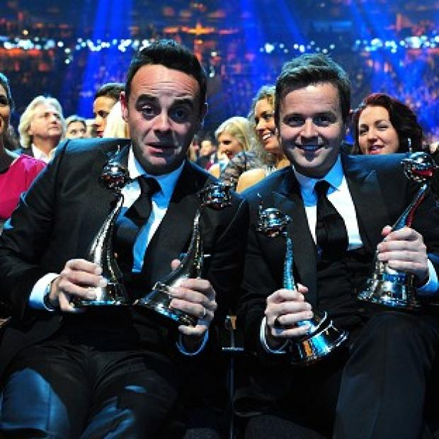 Bicester Advertiser: Ant and Dec celebrate with their National Television Awards