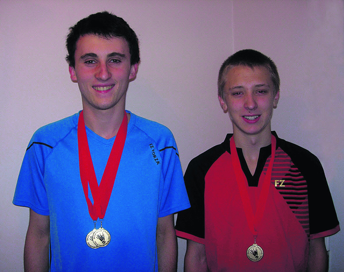 Joe Roberts (left) won two golds, teaming up with Ashley Garrison (right) to win the doubles