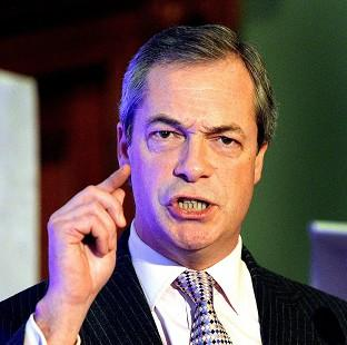 Bicester Advertiser: Nigel Farage said the UK does not have the money to press ahead with HS2
