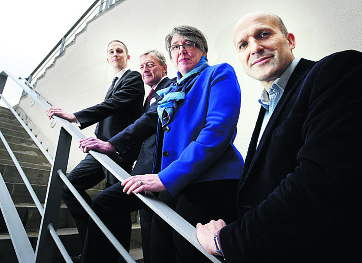 Members of OxFutures, Luke Marion,Tim Stevenson OBE, Barbara Hammond and Martin Chilcott