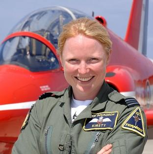 Bicester Advertiser: Flight Lieutenant Kirsty Stewart, who became the first female pilot to join the Red Arrows, is to wed, according to reports (Royal Air/PA)