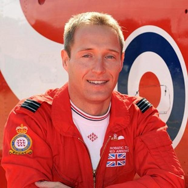 Bicester Advertiser: Red Arrows pilot Flight Lieutenant Sean Cunningham died after he was ejected from his cockpit while on the ground