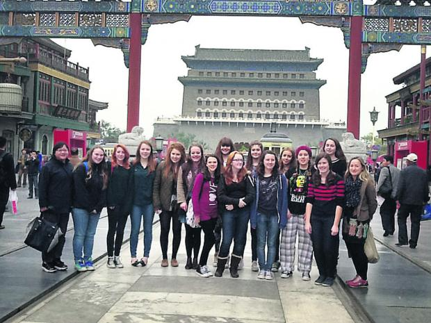 Pupils from Didcot pictured during one of the school's regular trips to China