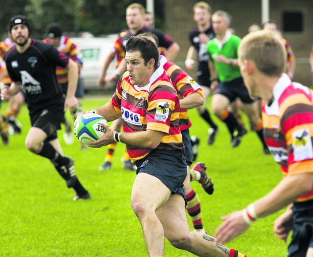 Bicester centre Steve Miller converted four of their seven tries in the 46-8 win at P