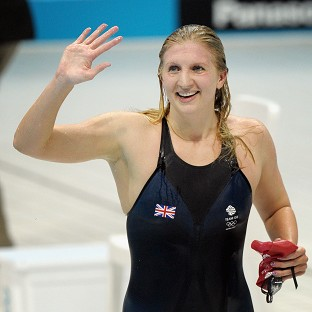 Olympic medal-winning swimmers Becky Adlington and Michael Jamieson battled their way to a Guinness World Record 100 x 100m swimming relay title to raise tens