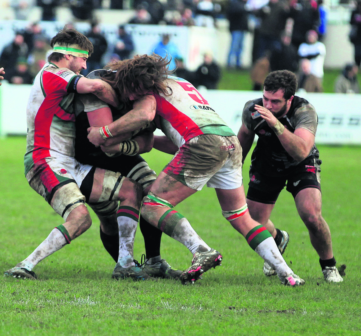 London Welsh lock Ian Nimmo finds it hard going at Plymouth Albion – an experience Justin Burnell wants his players to learn from