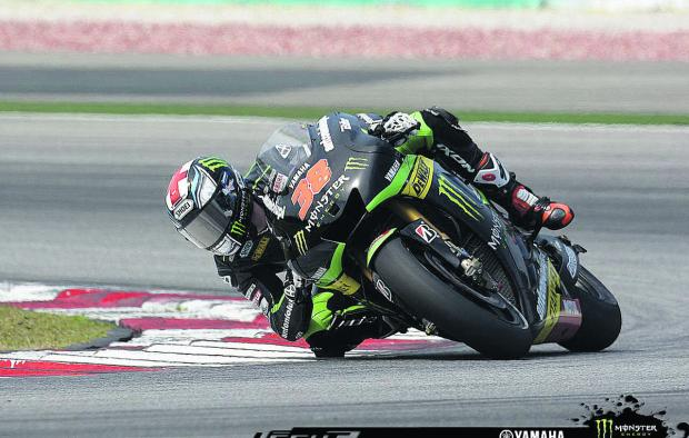 Bradley Smith on a hot lap in Malaysia, where he was happy to do important set-up work on his Yamaha