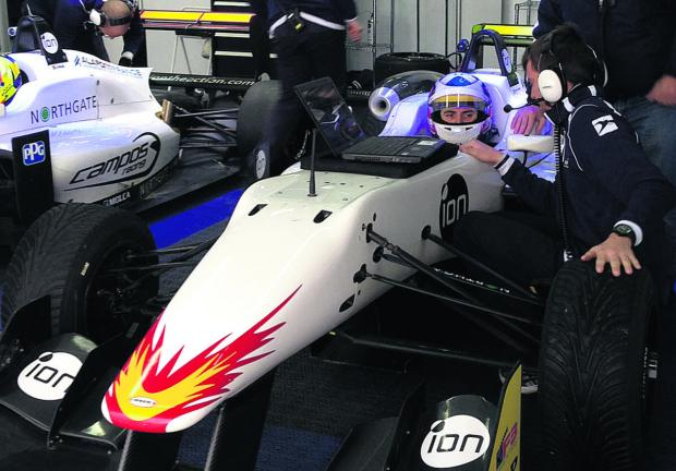 Sean Walkinshaw in his new Dallara F312
