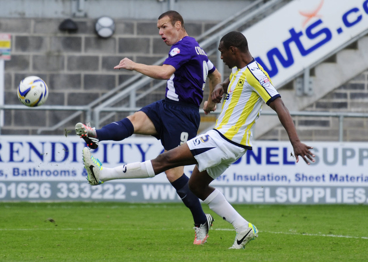 This stunning strike from James Constable at Torquay United in August has been short-listed for the Mitre Goal of the Year.  Votes from supporters will help select the top five.  Visit www.socceram.com/goaloftheyear to register yours.