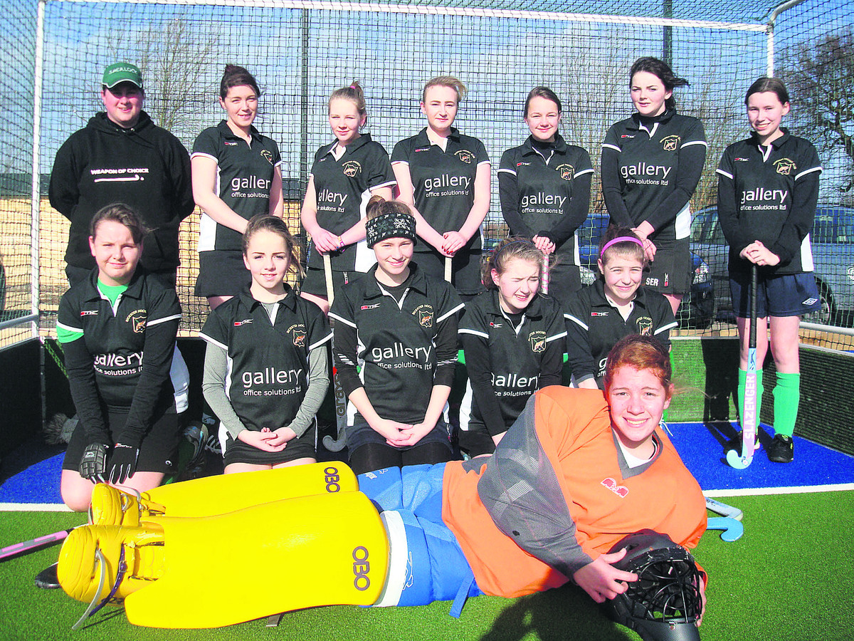 ON PARADE: Bicester Ladies 4th before their 3-1 defeat at Oxford Ladies Hawks 6th