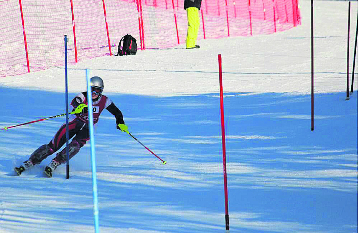 Sarah Adams competes in the English skiing championships in Italy, which start tomorrow