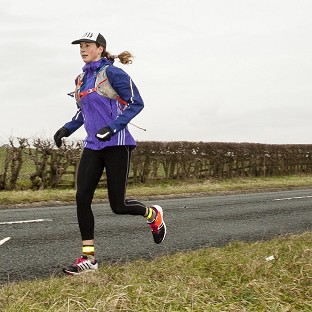 Susie Stephen is aiming to run, cycle and travel by passenger ferry from the UK to Easter Island. (World Reach PR/PA)