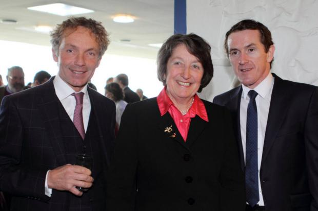 John Francome (left), Henrietta Knight and Tony McCoy at the celebration of Terry Biddlecombe's life  Picture: Matthew Webb