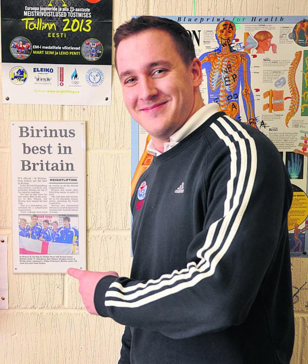 Bicester Advertiser: Ben Watson points to an old newspaper cutting charting former success