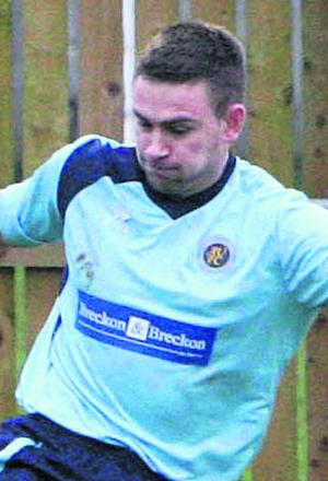 Ryan Brooks scored his seventh hat-trick of the season in the 6-0 hammering of Brinscombe on Tuesday