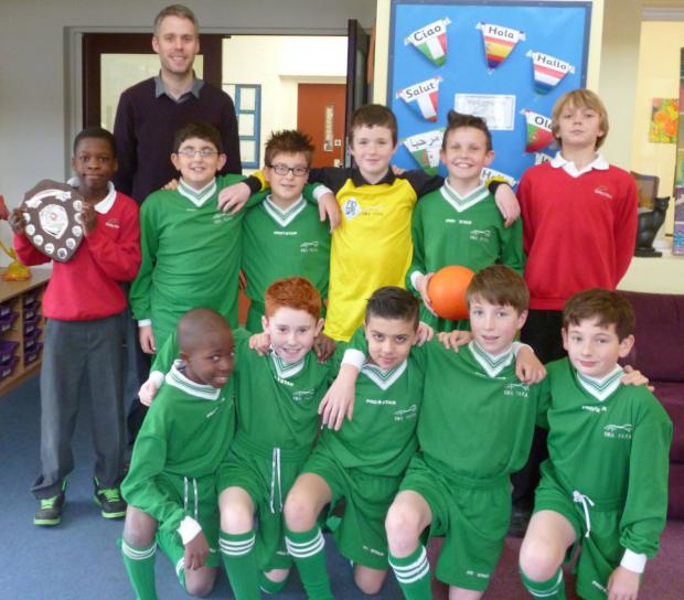 Botley Primary School, winners of the Oxfordshire finals in the ESFA Danone Nations Under 12 7-a-side Cup