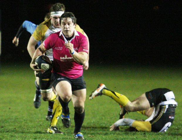 Nick Gardner on the charge for the University last night