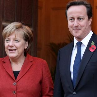 Bicester Advertiser: Prime Minister David Cameron will hold talks with German chancellor Angela Merkel
