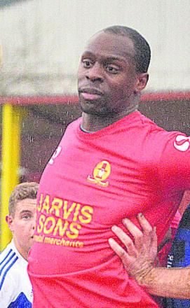Banbury United striker Leon Simpson faces a late fitness test on a calf injury