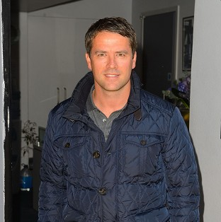 Michael Owen arriving at Sarm Studios for filming of the video.