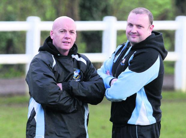 Bicester Advertiser: Witney head coach Pete Wilson (left) and assistant Ritchie Craig