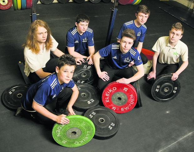 Members of the St Birinus team, who won medals at the British Schools' Weightlifting Championships. Back row (from left): Joshua Rogers, Connor Day, Peter Rose, Dominic Stroud. F