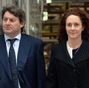 Bicester Advertiser: Former News International chief executive Rebekah Brooks and her husband Charlie Brooks arrive at the Old Bailey in London