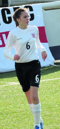 Brittany Egden in action for England