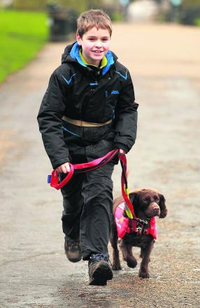 Eleven-year-old Steven Courtney has type one diabetes and relies on Molly as a vital health alert