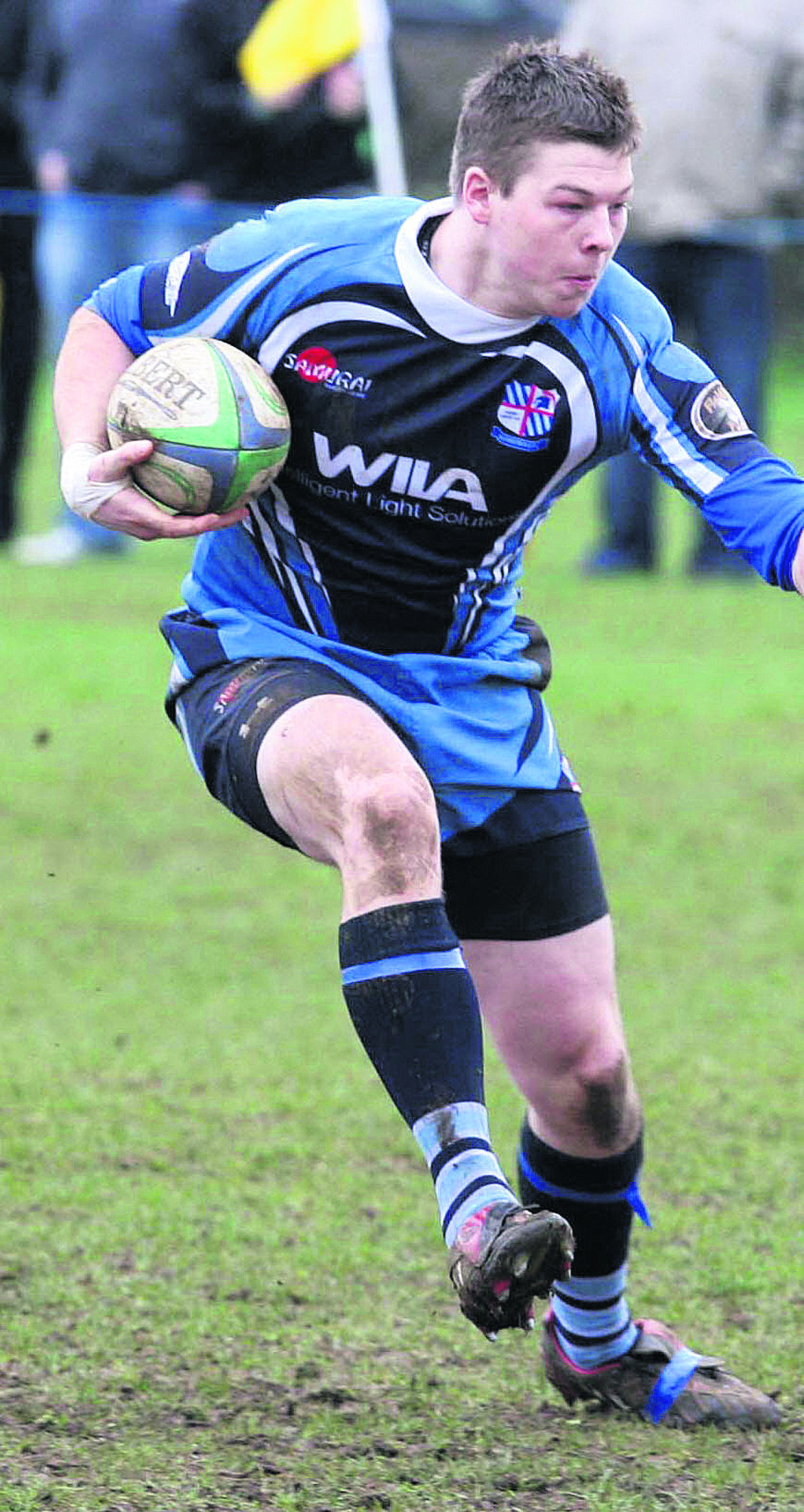 Matt Flegg scored Alchester's try in their  crucial 13-9 win against Stow-on-the-Wold on Saturday