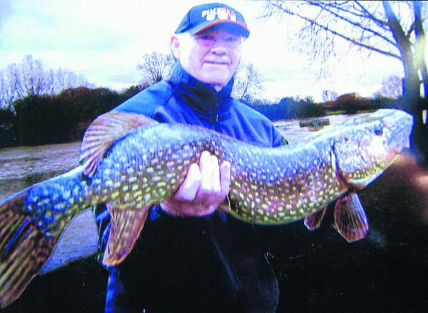 Tony Hallatt pictured with the 17lb 120z Thames pike he landed