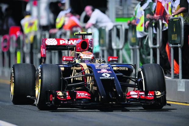 Lotus driver Pastor Maldonado, in practice yesterday, hopes to show his calm side when the season starts in Australia tomorrow