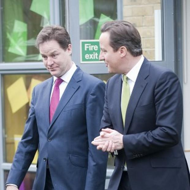 Bicester Advertiser: Prime Minister David Cameron and Deputy Prime Minister Nick Clegg are at odds over Europe