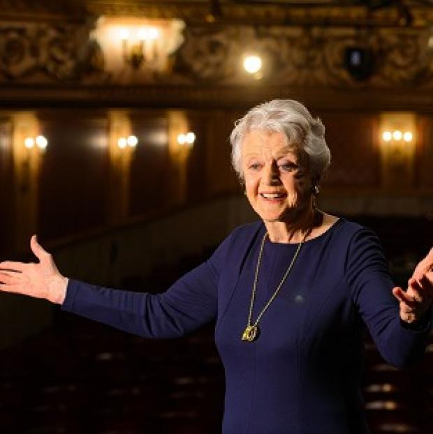 Bicester Advertiser: Actress Dame Angela Lansbury onstage during a photocall at the Gielgud Theatre, in central London, where she will play the role of Madam Arcati in a new production of 'Blithe Spirit', her first West End role in almost 40 years.