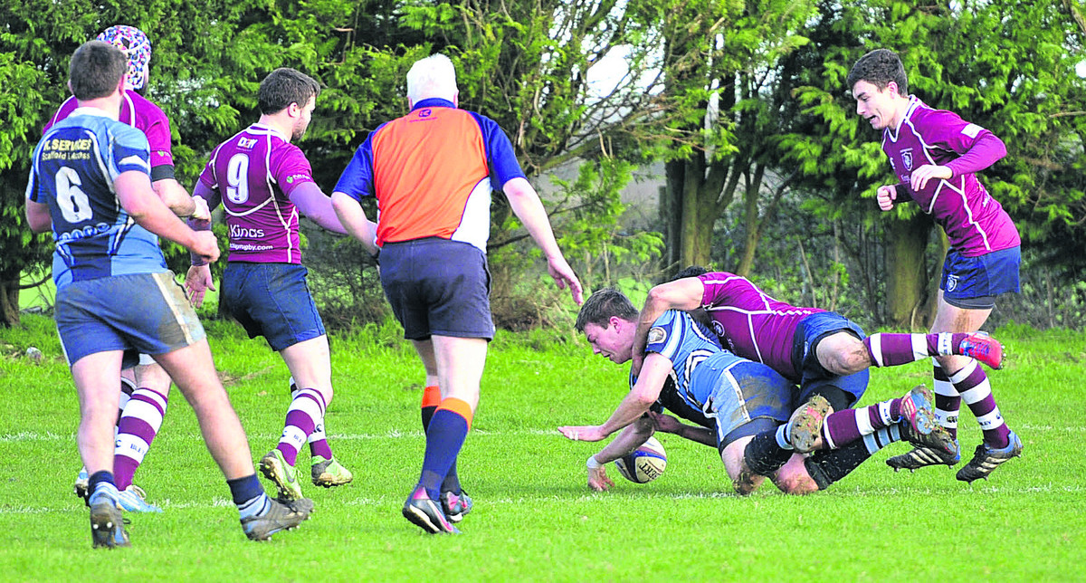 Matt Flegg scored Alchester's first try  in their 17-15 win against Bletchley