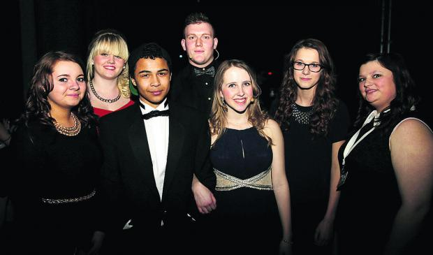 Members of the Oxfordshire Youth Awards committee, left to right, Courtney Hughes, 16, Becca Cross, 17, Dan Robinson, 17, Dan McCall, 20, Kirsty Rix, 16, Pansy Poolman, 15 and Rachel Munday, 17, who helped to decide the winners. Pictures: OX65990