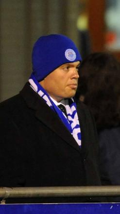 Oxford City president Thomas Guerriero watches Tuesday night's match against Histon