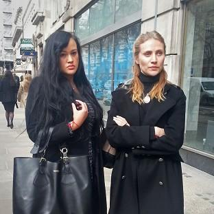 Bicester Advertiser: Diana Nicholl-Pierson, left, and Anna Mazover outside an employment tribunal in central London