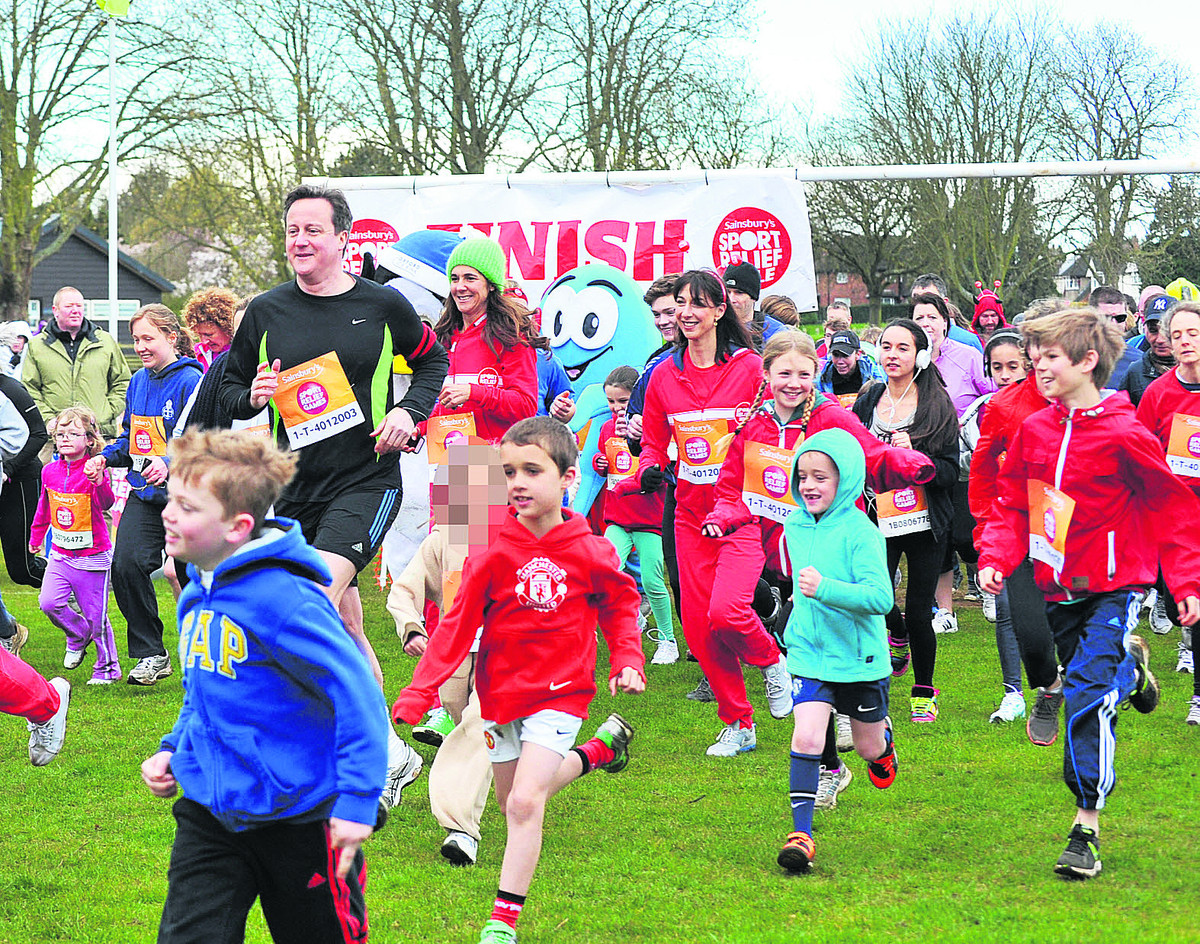Camerons join runners to boost Sport Relief coffers
