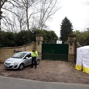 Bicester Advertiser: Police outside the home of Boris Berezovsky after his death.