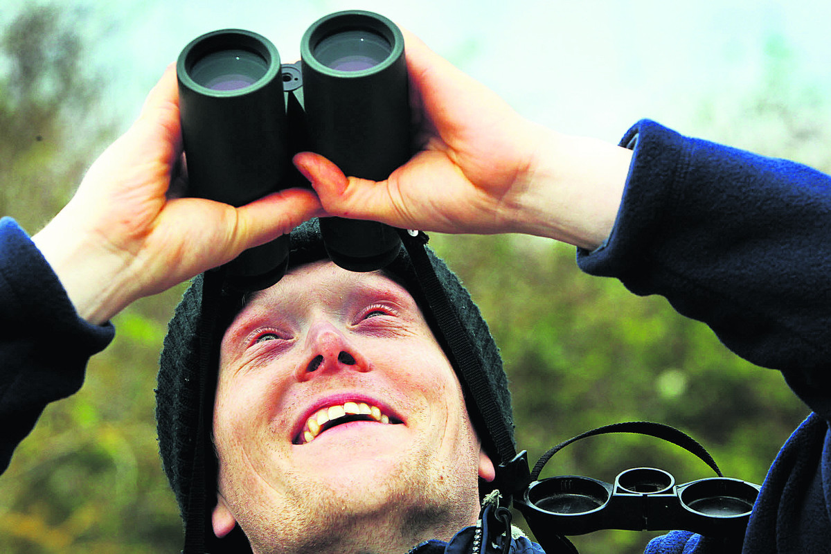 RSPB Otmoor nature reserve warden Joe Harris was among Oxfordshire residents who took part in the Big Garden Birdwatch, but he had to admit he didn't spot anything. Picture: OX66211 Ed Nix