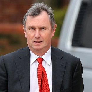 Former deputy speaker of the House of Commons Nigel Evans arrives at Preston Crown Court