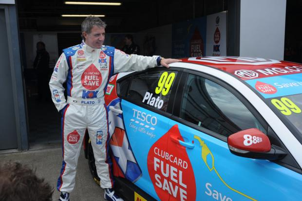Oxfordshire's Jason Plato pictured with his car ahead of the new season, which starts today              Picture: Lee Foxon